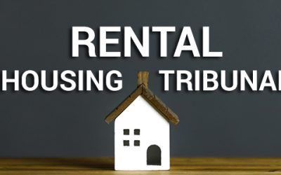 LANDLORD & TENANT CONSIDER THE TRIBUNAL DISPUTE RESOLUTION OPTION